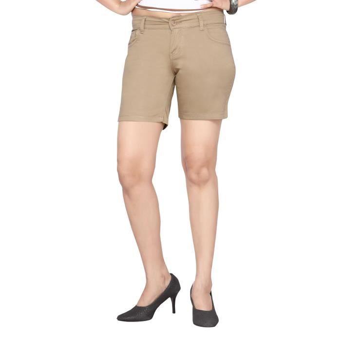 8d49261e67615 Coton étirables Shorts-__gVirt_NP_NN_NNPS<__ beige de la femme FRXJE ...