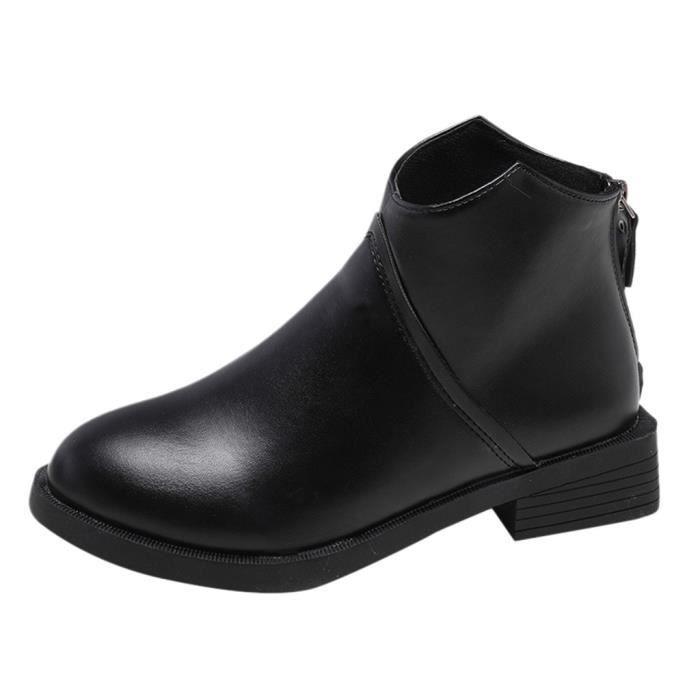 BOTTE Mode féminine Retro plat à talons plats chaussures