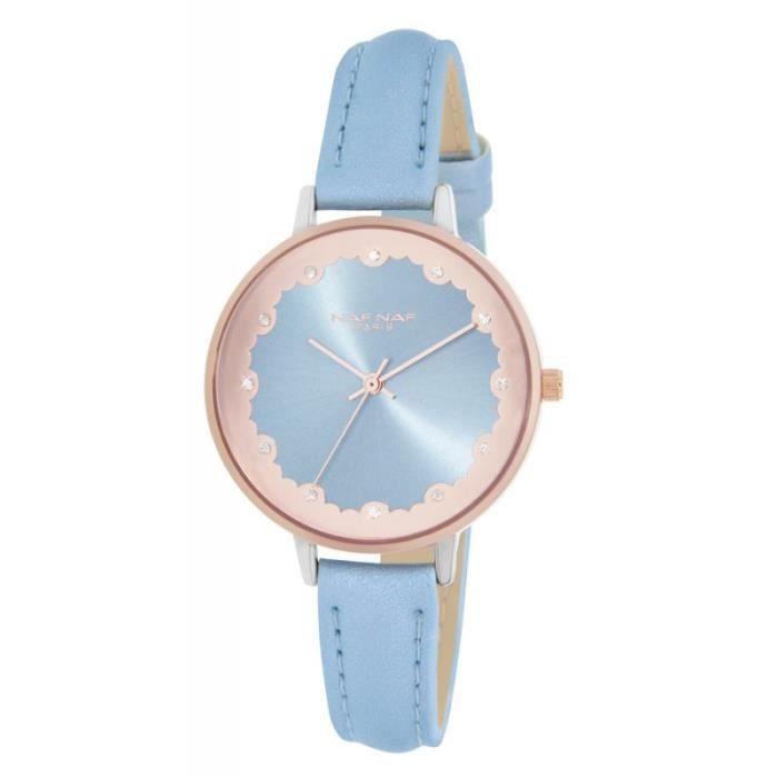 MONTRE Montre Cuir NAF NAF Femme Bleu Ciel - N10952-312 3