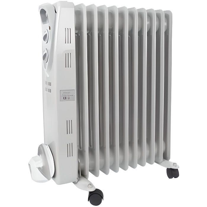radiateur bain d 39 huile 2500 w 11 l ments achat vente radiateur lectrique radiateur. Black Bedroom Furniture Sets. Home Design Ideas