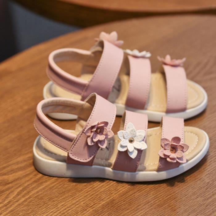 EOZY Sandales Enfant Fille Chaussures de Plage Floral été Antidérapant