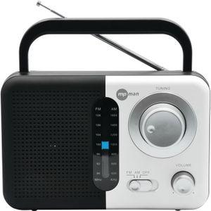 MPMAN RPS 690 Récepteur Audio Noir et Blanc