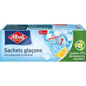 SAC ISOTHERME ALBAL Sachet pour glaçons - Lot de 15