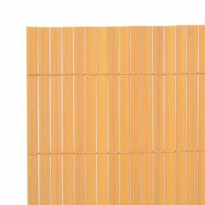 CLÔTURE - GRILLAGE Panneaux de cloture Couleur : Jaune Materiau : PVC