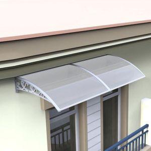 MARQUISE - AUVENT Marquise Auvent de porte 100x300cm solaire abri ba