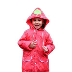 a930433daef99 Imperméables pour enfants 65cm de longueur Modélisation animale de dessin  animé -Rouge