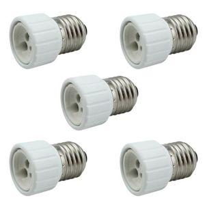 AMPOULE - LED 5PC E27 à GU10 Base Socket Ampoule lampe Holder Pl