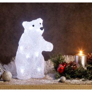 superbe illumination de no l ours debout lu achat vente boule de no l acrylique. Black Bedroom Furniture Sets. Home Design Ideas