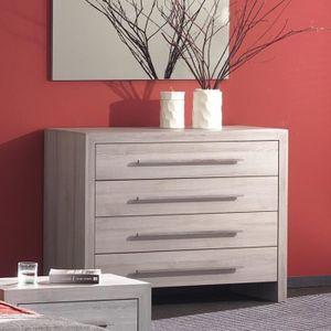 COMMODE DE CHAMBRE Commode adulte couleur bois contemporaine BRADY Bl