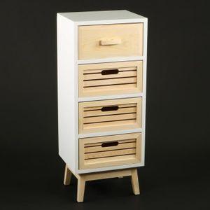 chiffonier blanc achat vente chiffonier blanc pas cher soldes d s le 10 janvier cdiscount. Black Bedroom Furniture Sets. Home Design Ideas