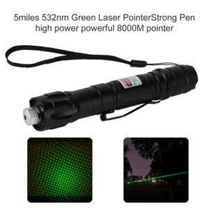 POINTEUR 1 pcs pointeur laser vert portable 8000m 5 miles 5