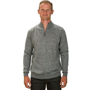 Pull Homme, Cachemire Pure. Col Polo. Rouge. M