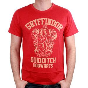 T-SHIRT T-shirt Adulte Harry Potter : Gryffindor Quidditch