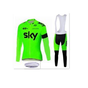 MAILLOT DE CYCLISME SKY Maillot de Cyclisme Hiver Thermique Fleece Man