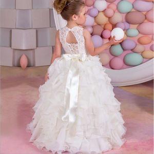 ROBE DE MARIÉE Blanc princesse nuage petite fille de fleurs robes