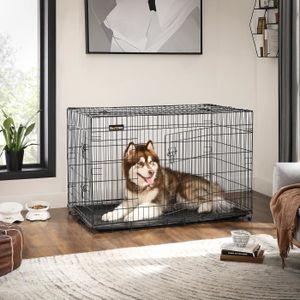 CAGE Songmics® 2 Portes Cage pour chien pliable et tran