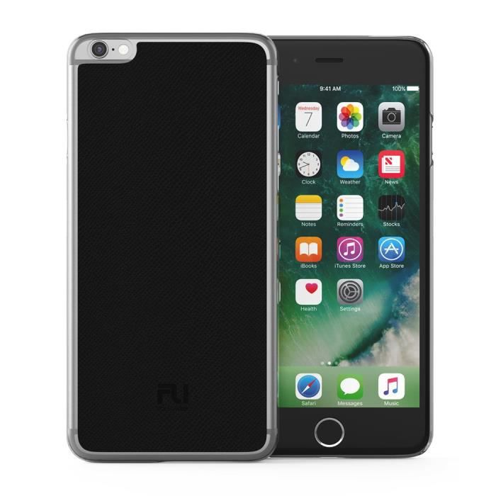 FOLLOW UP Coque Parisian Cover Iphone 6S plus - Serpent d'eau - Noir