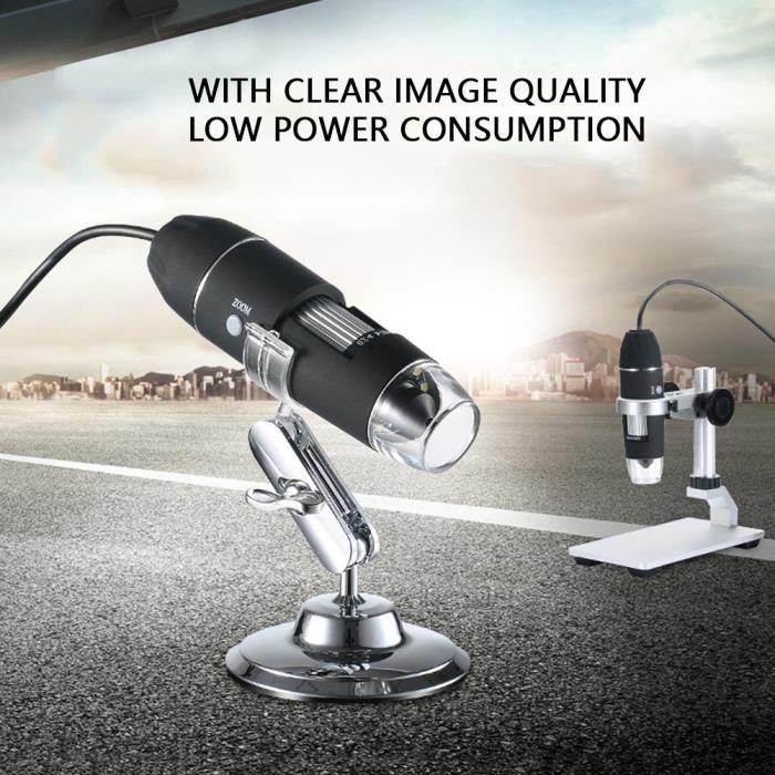 MICROSCOPE OPTIQUE 1000X microscope USB 8 LED Numérique Loupe Endosco