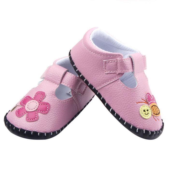 EOZY Chaussons Souple Bébé Fille Chaussure de M... SeAyW