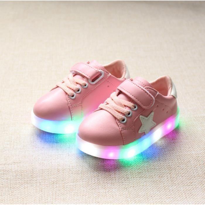 Enfants Chaussures Casual 2016 mode garçons filles Sport chaussures bébé lumière LED lumineux Sneakers Flasher Baby Boot