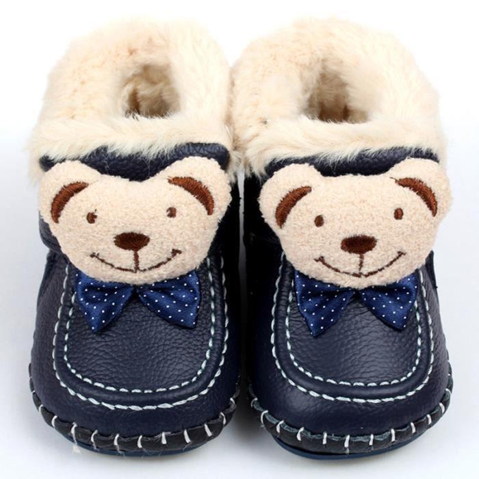 Bébé Bottes hiver en Cuir Ours Garçons Fille de Neige Bottes