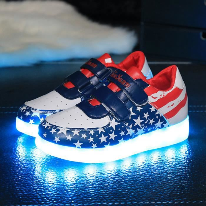 Chaussures de chaussures lumineuses chaussures chaussures chaussures homme et femme