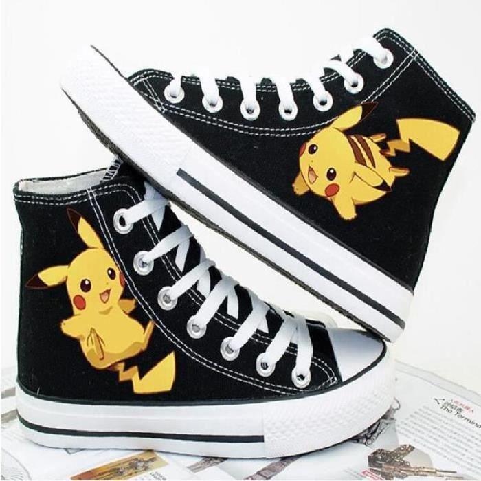 chaussures Pokemon toile chaussures de sport pikachu bande dessinée