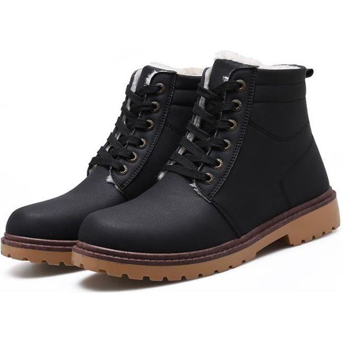 Haute Qualité Bottines Hommes Casual Marque Chaussures Masculines Respirante chaudes Bottes