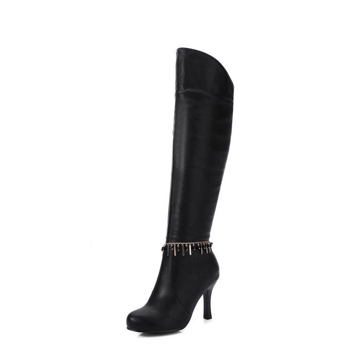 Au-dessus pour femmes Bottes talon haut sélectionl Style élégant Taille Plus Bureau Chaussures 11069556
