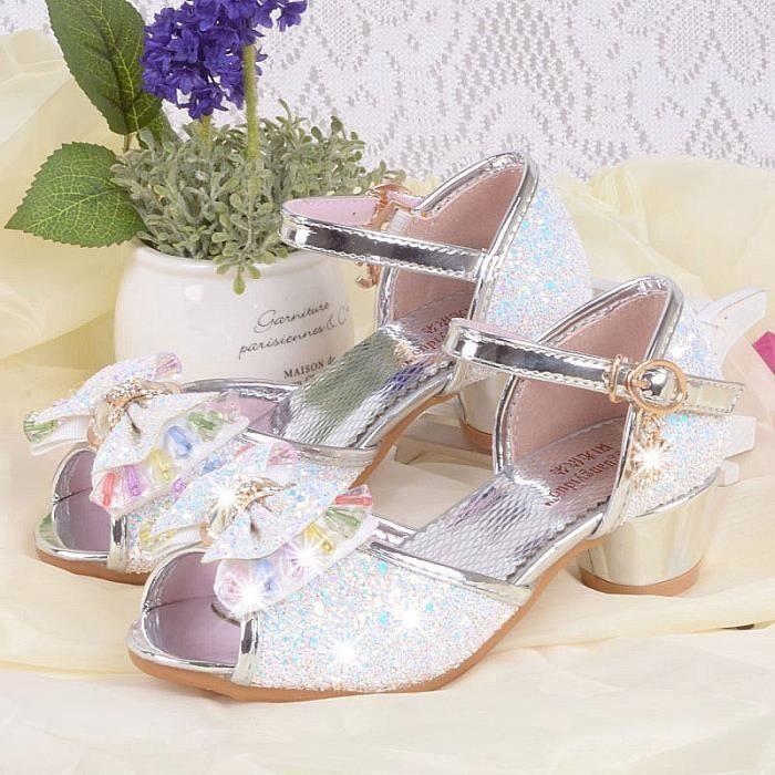 2017 nouvelles sandales pente filles pour les enfants avec des chaussures de princesse arc petites filles et sandales filles Jmg9jWt6UE