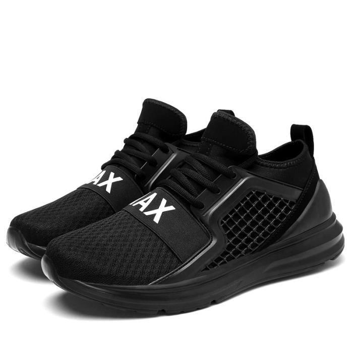 Nouvelle Arrivée Hommes Chaussures de Course Respirant Espadrilles de Maille Mâle Sport Vert Grande Taille 46