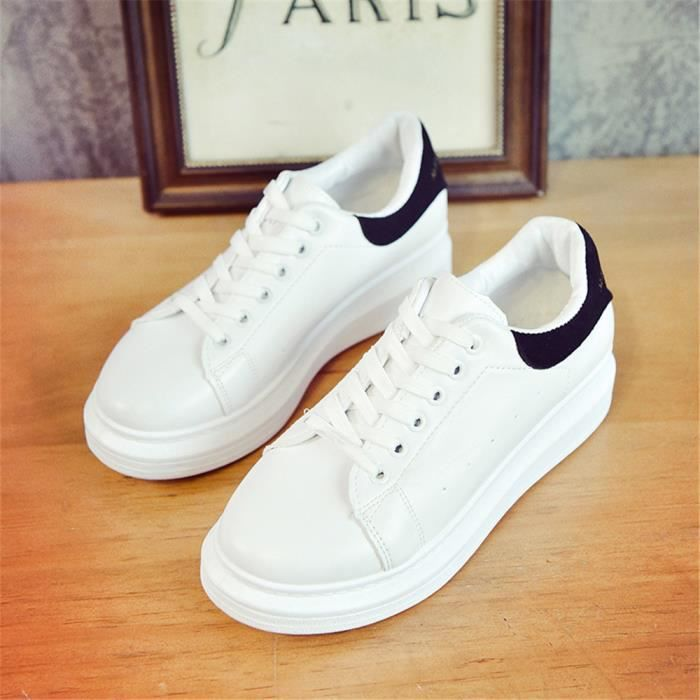 9145b1fced3 Sneakers Femmes Classique Antidérapant Chaussures Beau Mode ...