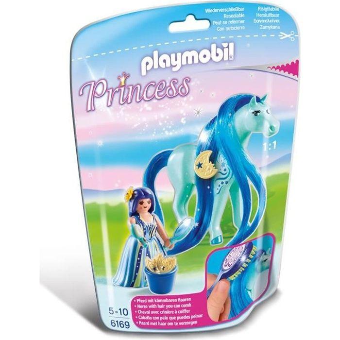 Playmobil 6169 princesse bleuet avec cheval coiffer achat vente univers miniature cdiscount - Princesse cheval ...