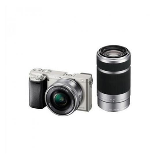 APPAREIL PHOTO COMPACT Sony ILCE-6000Y Double Kit (16-50)(55-210) blanc c