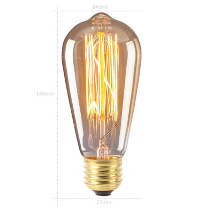Retro Noël Edison E27 240v Beguin® Vintage love351 220v Ampoule Incande EA8qXqnawx