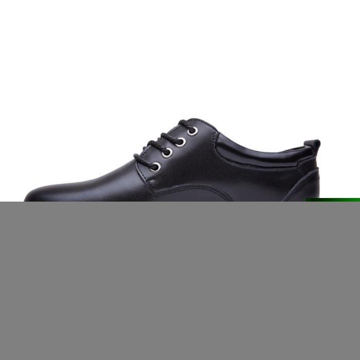 JOZSI Chaussures Homme Cuir Confortable mode Homme chaussure de ville DTG-XZ210Blanc37 wXiJec8