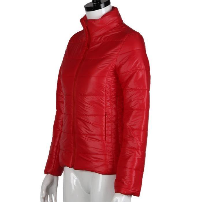 Femmes Automne rouge Doudoune Hiver Vestes De Mode Décontractées Femme Base Veste Manteau OtPwPd