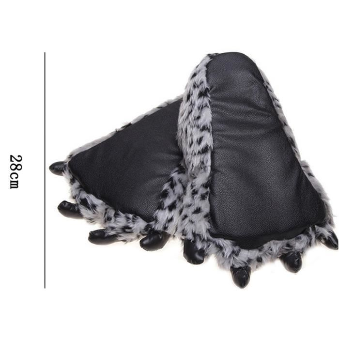 Patte Peluche Animal Hiver Populaire En Femme Bxfp Pantoufles Homme xz165jaune36 AEqXwCv