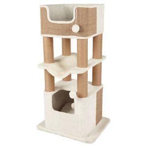 TRIXIE Arbre ? chat Lucano 110cm - Blanc et taupe