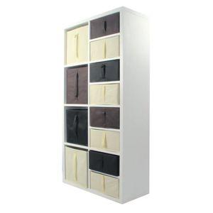 MEUBLE ÉTAGÈRE COMPO Meuble De Rangement 8 Cases + 12 Cubes Choco