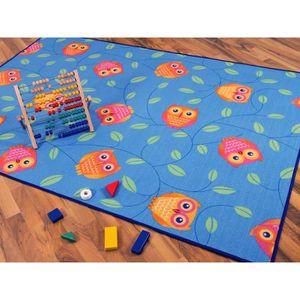 TAPIS Tapis de jeu pour enfant chouette en bleu - 17 tai