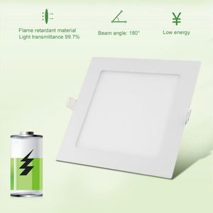 PLAFONNIER Spot LED carré 170mm extra plate 12W downlight LED