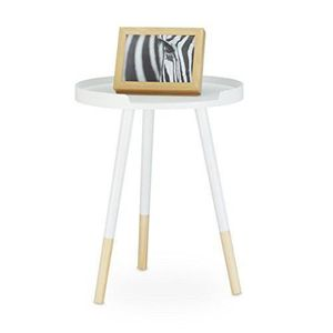 TABLE D'APPOINT Relaxdays Table d appoint console guéridon table b