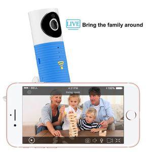 CAMÉSCOPE NUMÉRIQUE Caméra IP intelligente, Bleu Caméra vidéo Wifi Mon