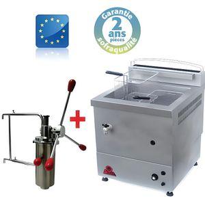FRITEUSE ELECTRIQUE Machine a Churros Gaz - 10 Litres + Doseur à Chich