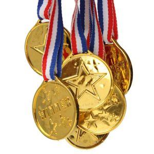 TROPHÉE - MÉDAILLE TEMPSA 10Pcs Jouet de Médaille d'Or en Plastique P