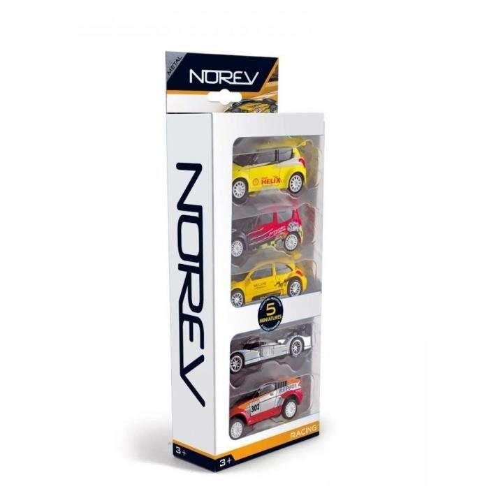 NOREV Pack de 5 petites voitures \