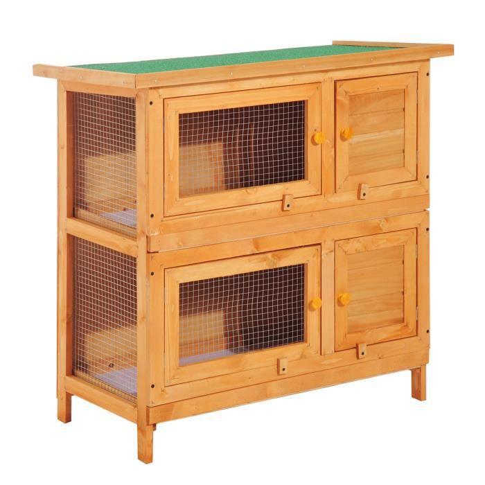 CAGE Clapier à lapin cage à lapin double niveau plateau