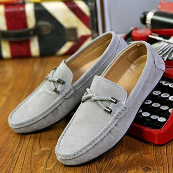 Mocassins Suède Conduite Chaussures Homme