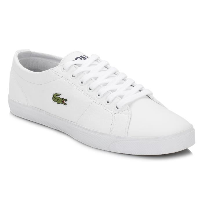Lacoste Homme White Marcel LCR3 Cuir Baskets qh13N